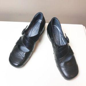 Josef Seibel sz 37 6.5 Black Mary Jane Shoes